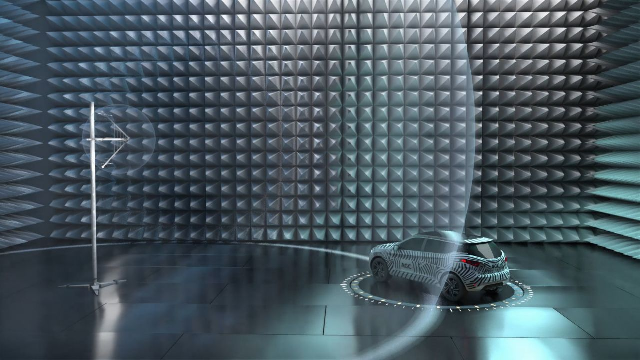 Inauguration of anechoic chambers of AGC Glass Europe in Gosselies